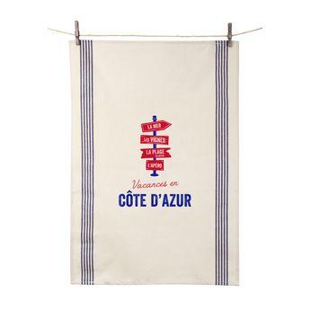 Achat en ligne Torchon Vacances en Côte d´Azur 55x80 cm 100% coton - Tissage de L´Ouest