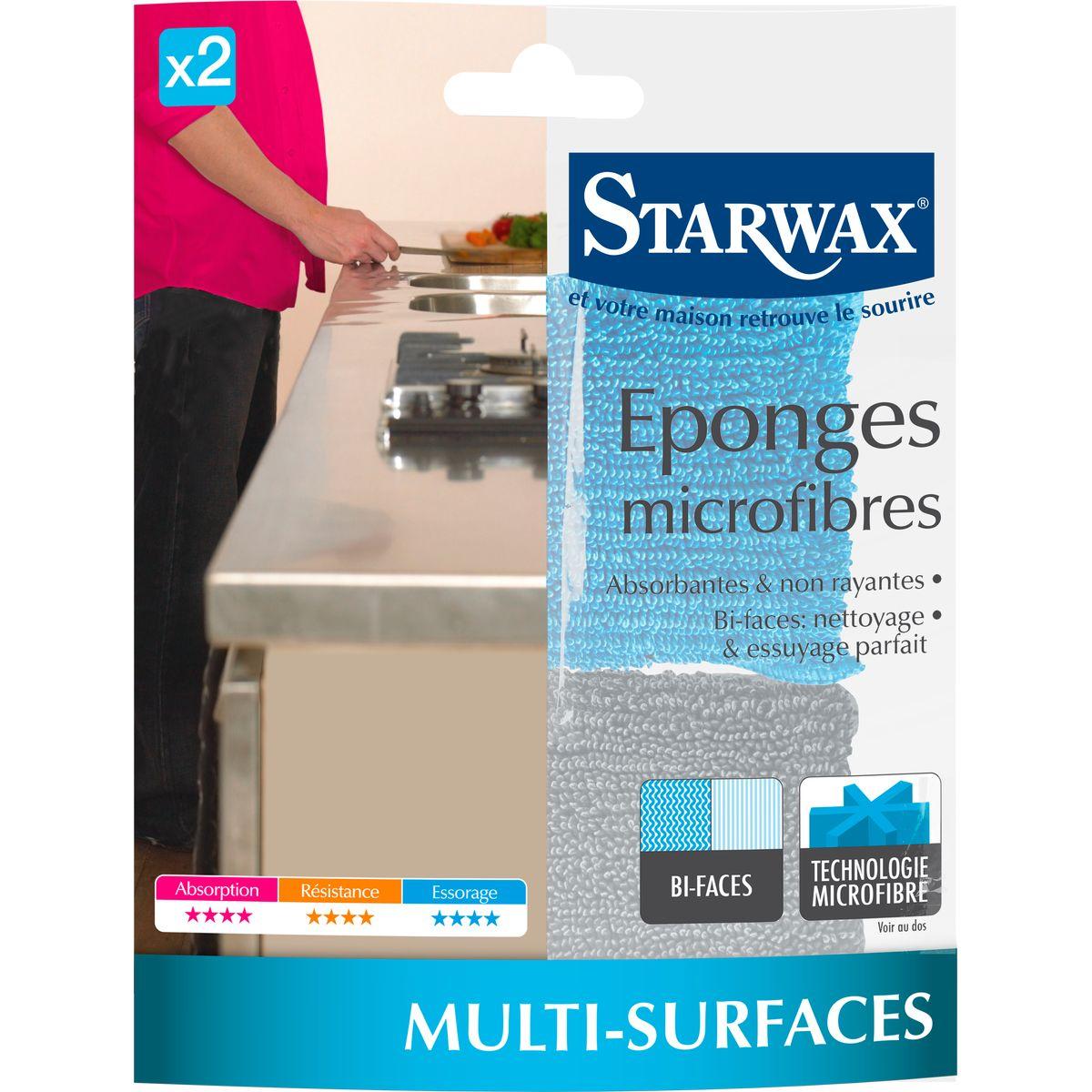 2 éponges microfibre - Starwax