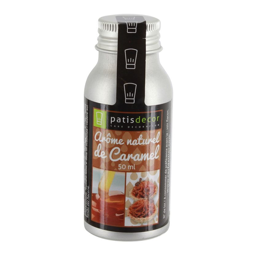 Arôme alimentaire naturel caramel 50 ml - Patisdecor