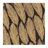 Serviettes 33cm x 33cm plumes noires - AvantGarde