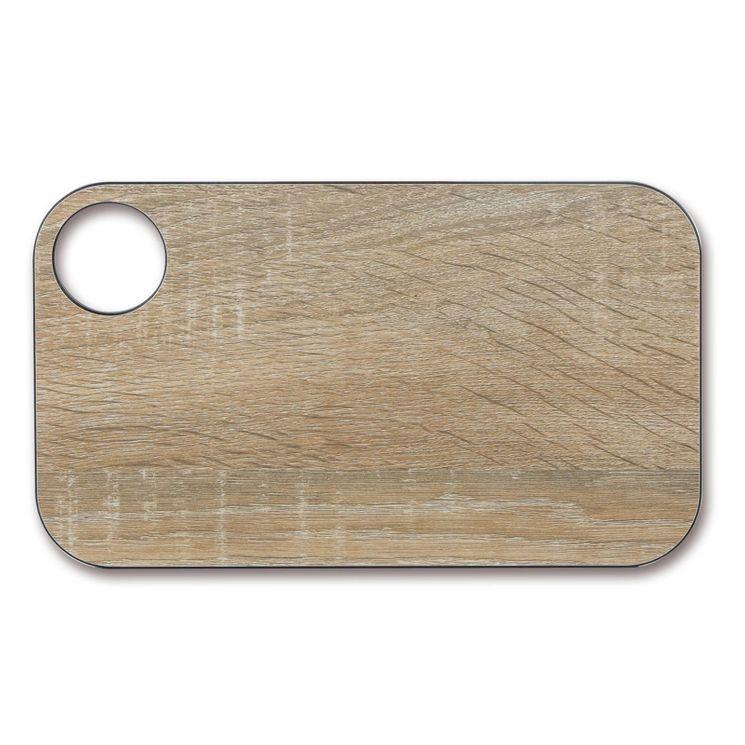 Planche à découper effet bois en papier compressé 24 x 14 cm - Arcos