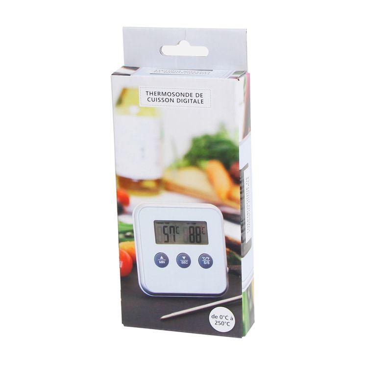 Thermomètre avec sonde blanc - Alice Délice