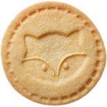 Tampon biscuit bois et silicone renard 7 cm - Birkmann