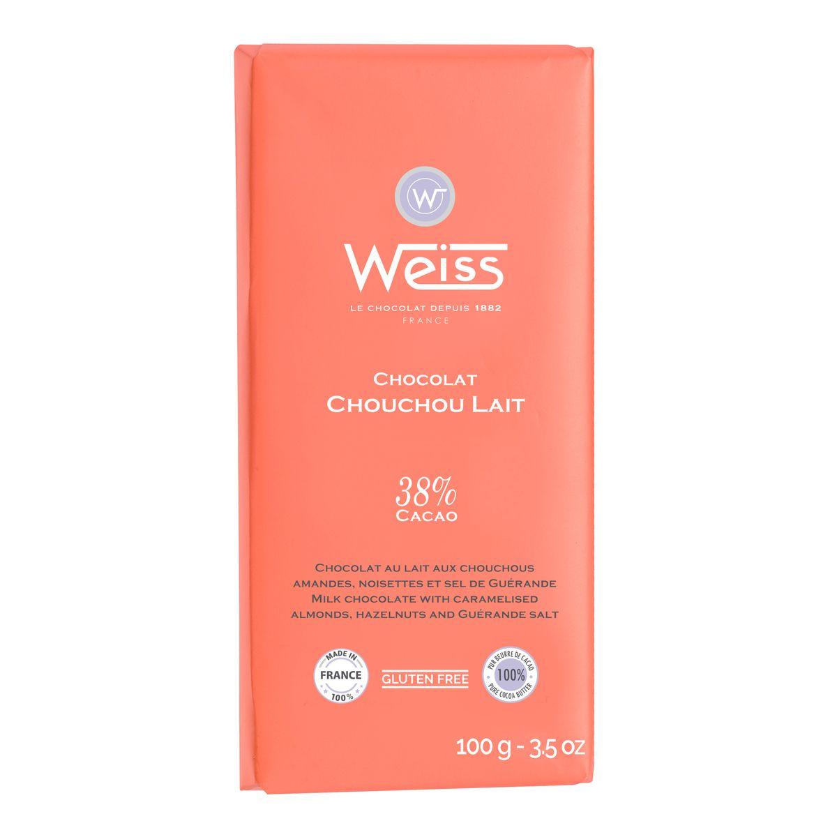 Tablette lait chouchou 100gr - Weiss