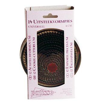 Boîte de 14 emporte-pièces ronds cannelés - Patisse