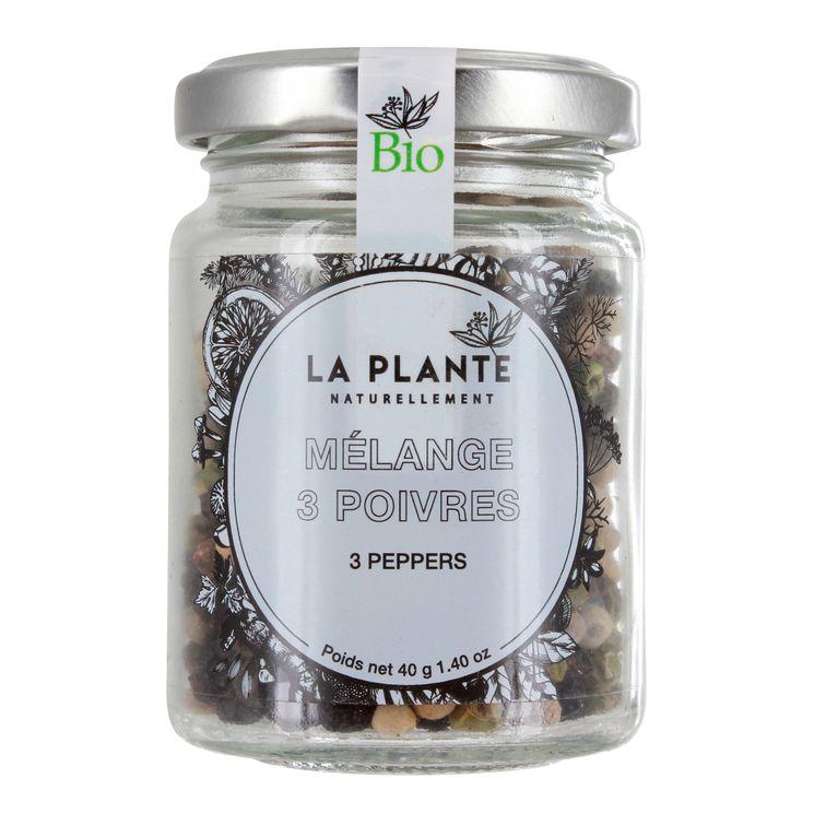 Mélange trois poivres BIO 40g - La Plante