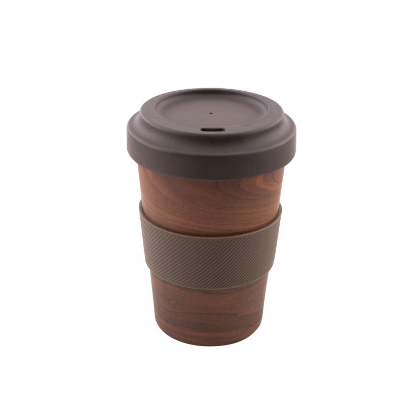 Mug nomade en fibre de bambou effet bois 500ml - Point Virgule