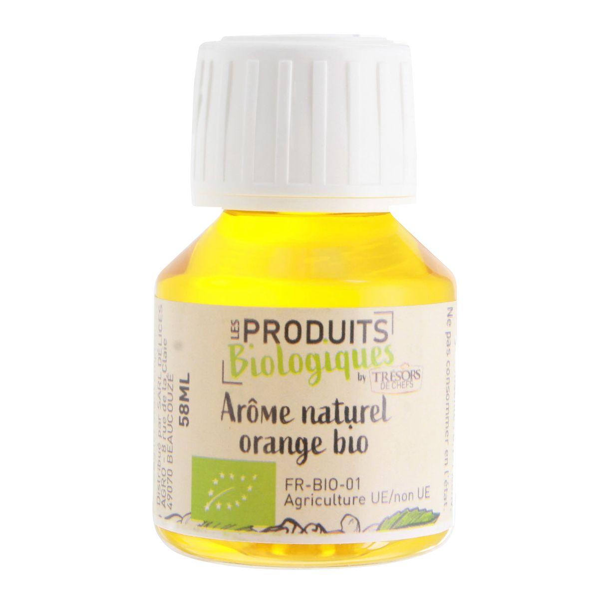 Arôme alimentaire bio orange 58 ml  - Trésors de Chefs