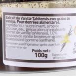 Extrait de vanille de Tahiti  avec grains 100ml - Trésors de chefs