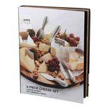 Set à fromages 9 pièces avec couteaux et marqueurs en inox - Point Virgule