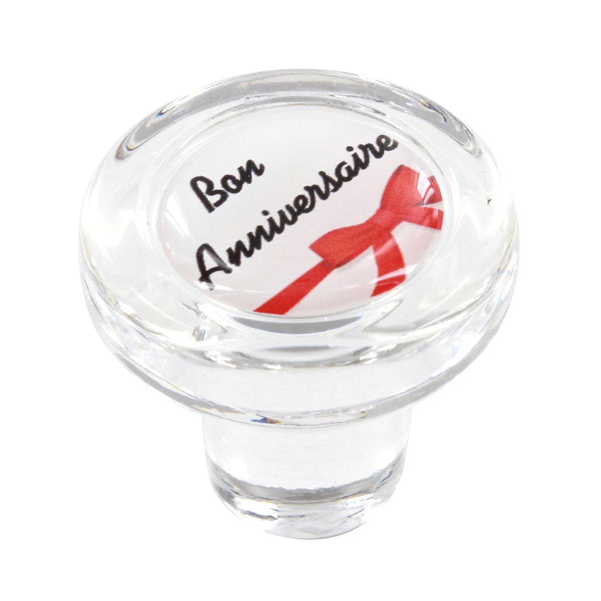 Bouchon en verre bon anniversaire - Cevenpack