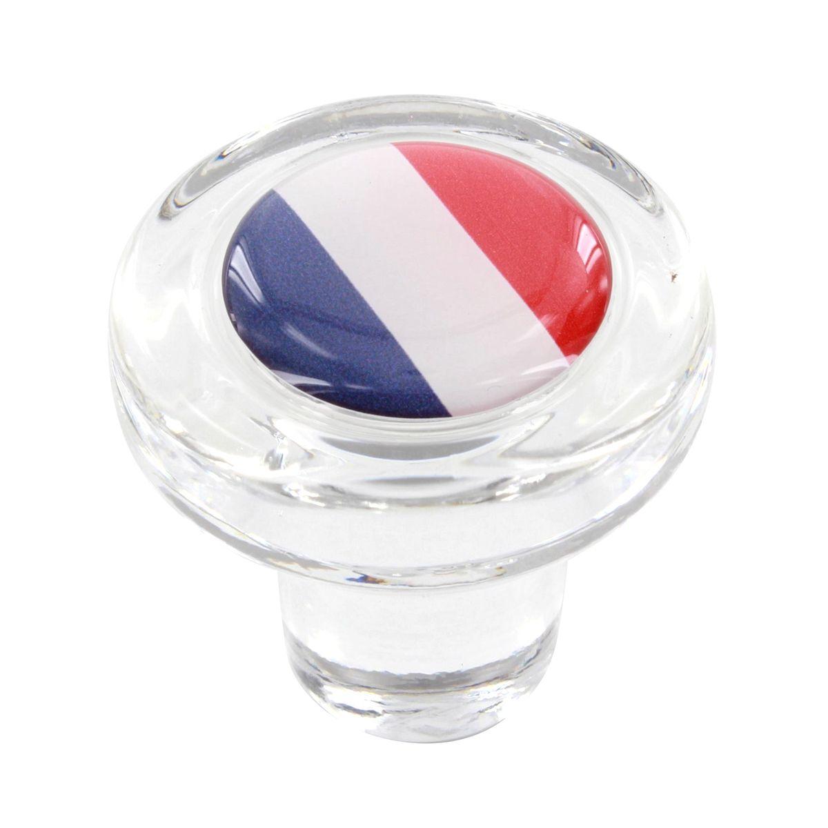 Bouchon en verre drapeau français - Cevenpack