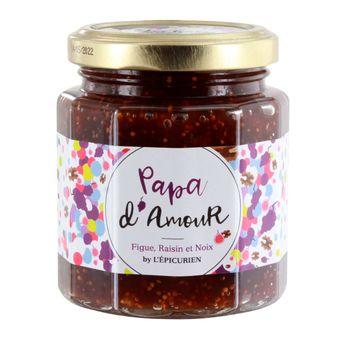 Achat en ligne Confiture papa d'amour 210 g (figue. raisin et noix) - L´Epicurien