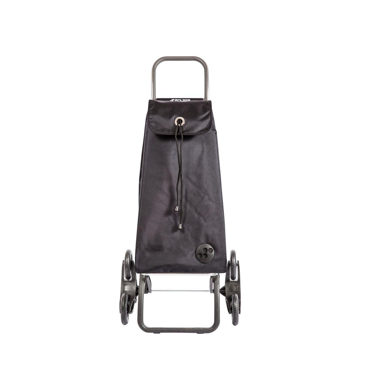 Chariot de course de marche pliable 6 roues monte escaliers mf noir - Rolser