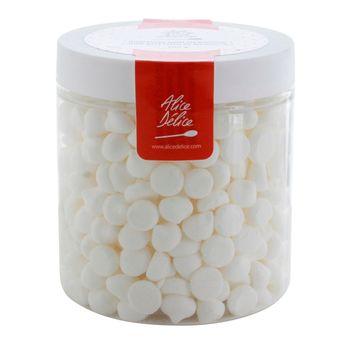Pot de mini meringues blanches 100gr - Alice Délice