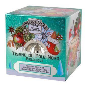 Cube métal tisane du pole nord 24 sachets bio 48g - Provence d´Antan