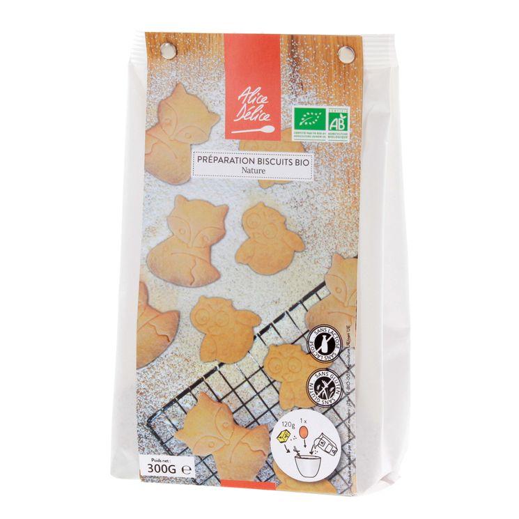 Préparation biscuit nature bio 300gr - Alice Délice