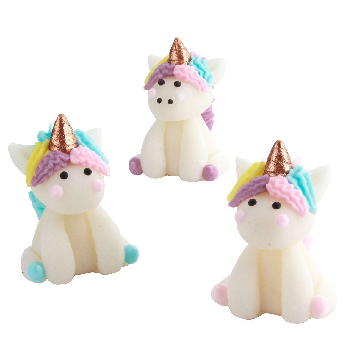 Décor 3D : 3 figurines licornes