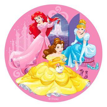 Disque en azyme princesses Disney Ariel. Belle et Cendrillon 20 cm - Dekora