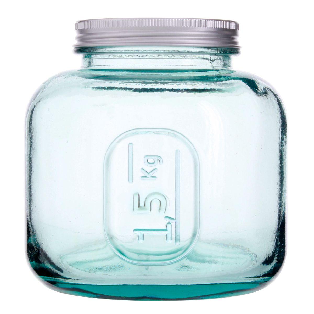 Bocal en verre recyclé 1.5 kg - Vidrios