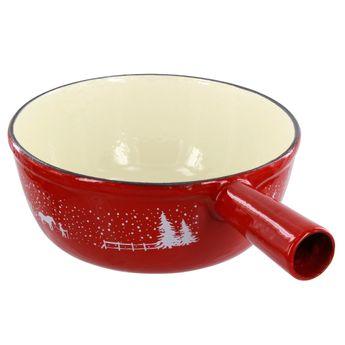 Achat en ligne Accessoire poelon en fonte à fondue savoyarde décoré 24cm - Table & Cook
