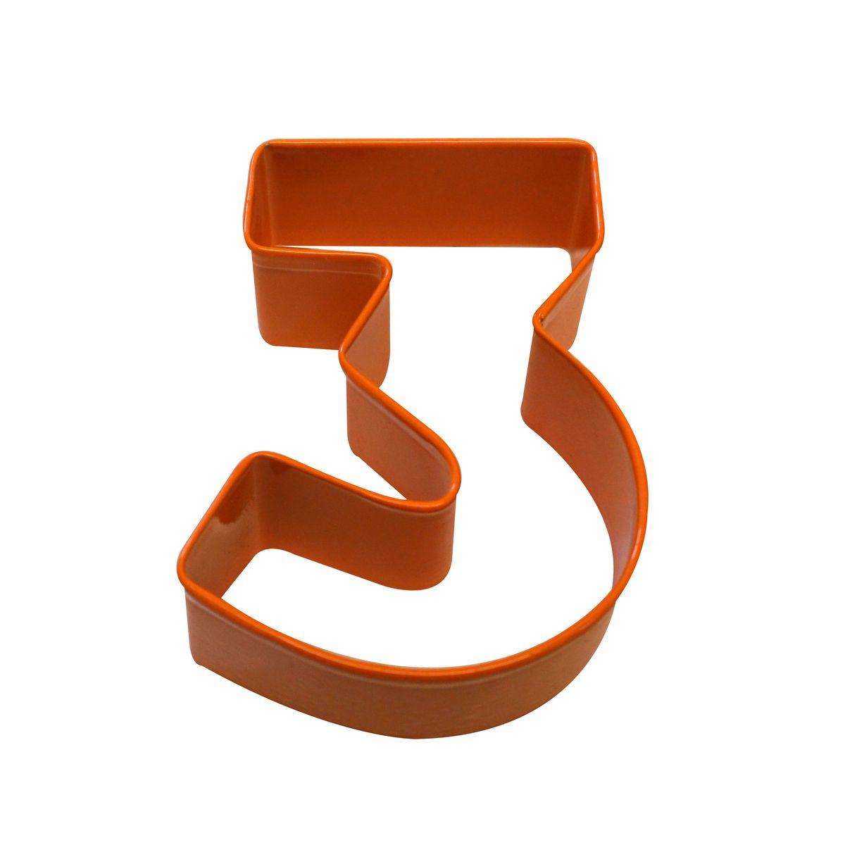 Emporte pièce orange chiffre 3 - Anniversary House