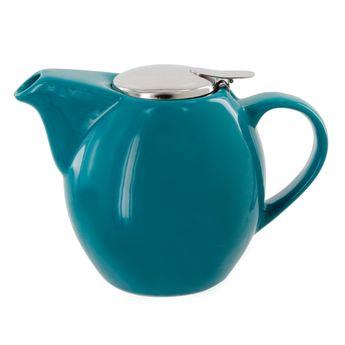 Theiere en céramique 0.9L bleu - Bastide Diffusion