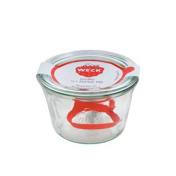 Achat en ligne Bocal de conservation hermétique en verre avec clips et joints 250 ml diamètre 80 mm - Weck