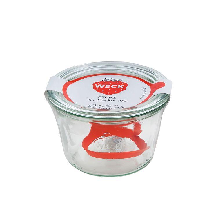 Bocal de conservation hermétique en verre avec clips et joints 250 ml diamètre 80 mm - Weck