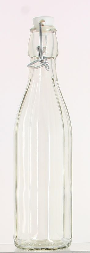 Bouteille limonade avec lignes en verre transparent 50 cl 7 x 26.3 cm - Cerve