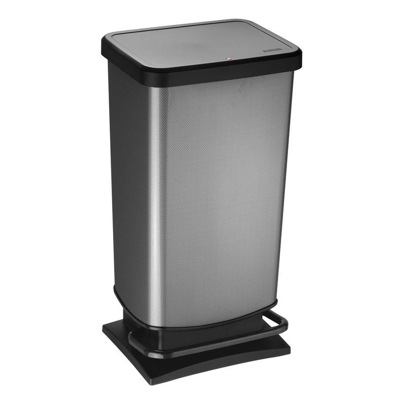 Poubelle Paso gris carbone 40L - Rotho
