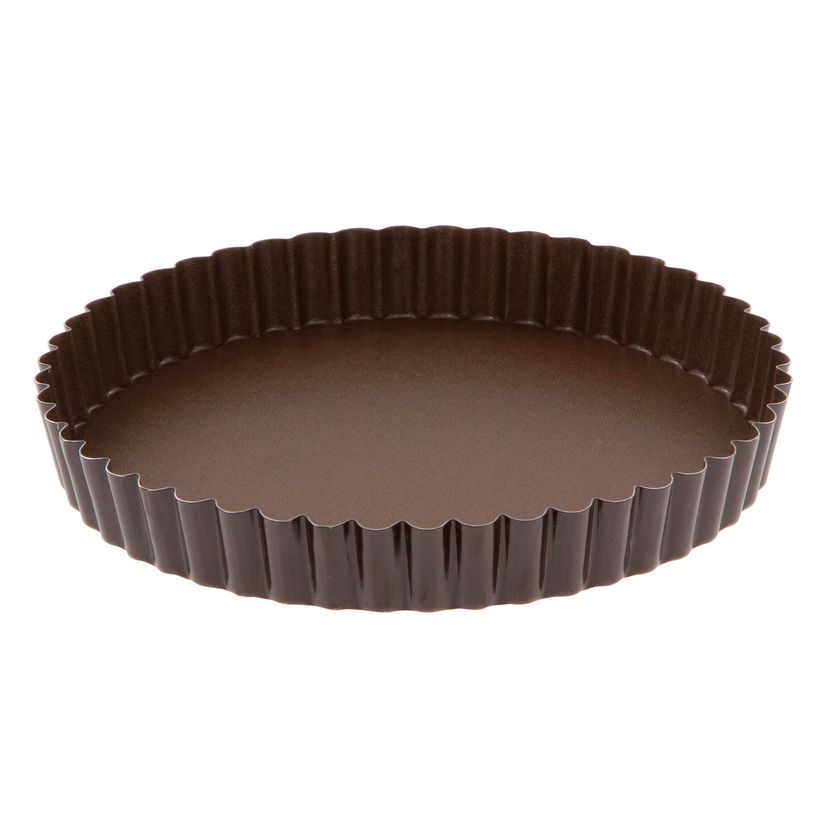 Moule à tarte en métal anti adhérent avec fond amovible 4/6 parts 20 cm - Alice Délice