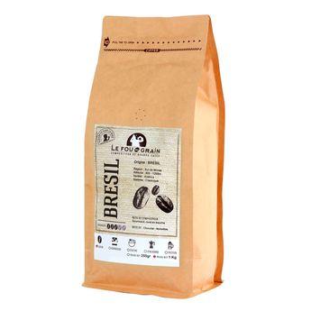 Café en grains 1kg Brésil sul de minas - Le Fou du Grain