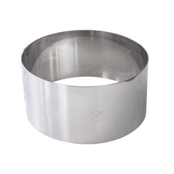 Achat en ligne Cercle à mousse et entremet en inox 6/8 parts  24 cm hauteur 4.5 cm - Alice Délice