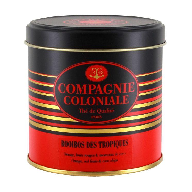 Rooibos boîte métal rooibos des tropiques 90gr - Compagnie Coloniale