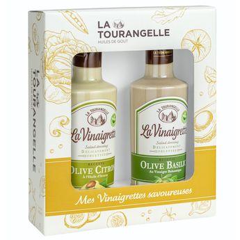Achat en ligne Duo Vinaigrettes méditerranéennes Olive-Citron. Olive-Basilic - La Tourangelle