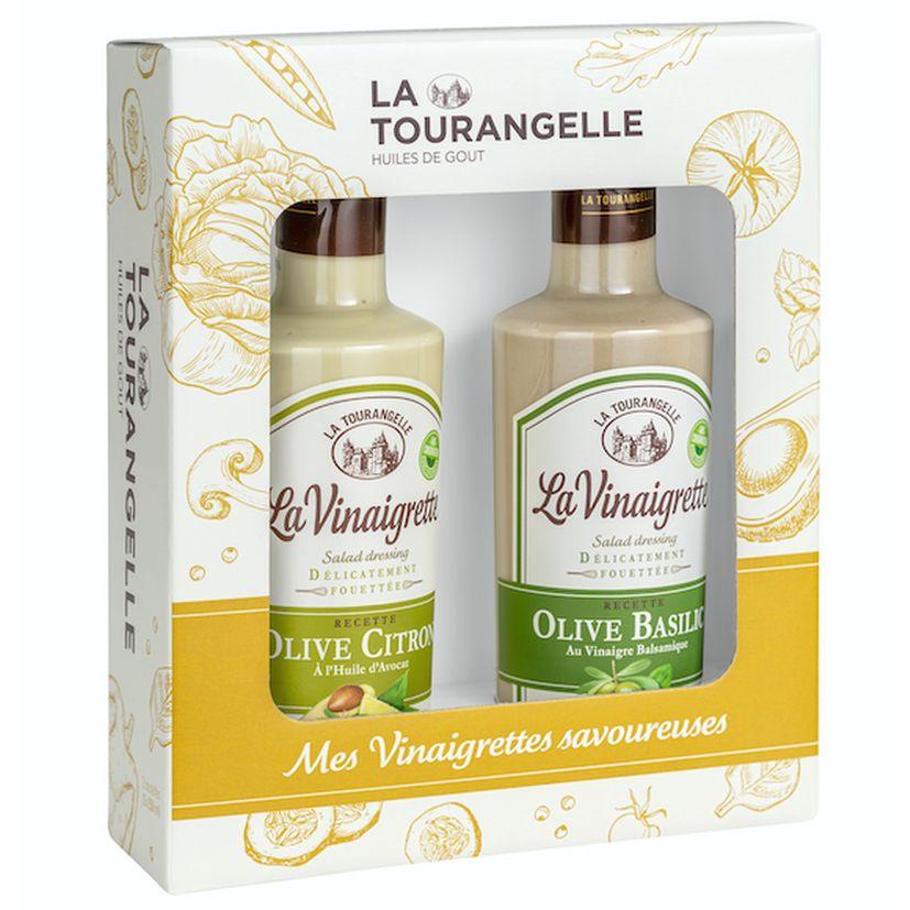 Duo Vinaigrettes méditerranéennes Olive-Citron. Olive-Basilic - La Tourangelle