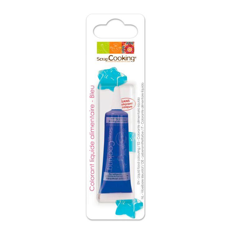 Colorant alimentaire liquide non azoïque bleu 10 gr - Scrapcooking