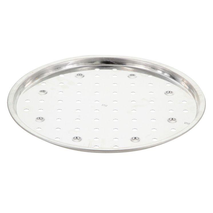 Plaque à pizza fer blanc 30cm perforée - Alice Délice