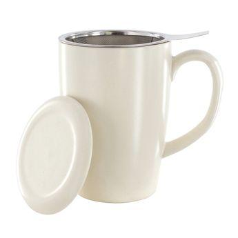 Achat en ligne Tisanière porcelaine blanche 400ml - Point Virgule