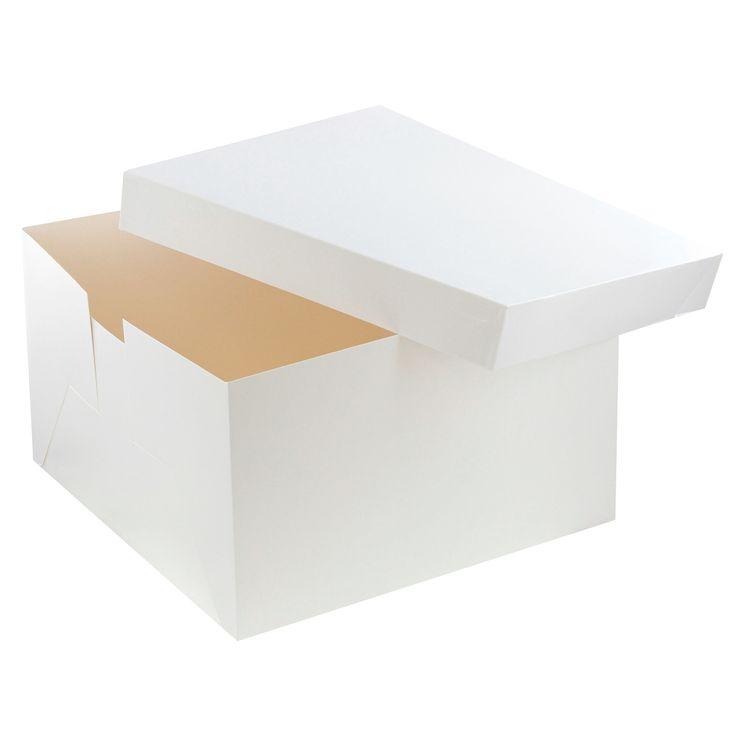 Boîte à gâteaux blanche 36 x 26 x 22 cm  - Patisdecor