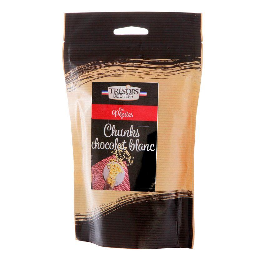 Pépites chunks chocolat blanc 250 gr - Trésors de Chefs