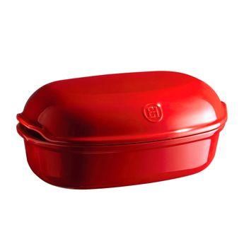 Achat en ligne Moule à pain artisan en céramique rouge  16 x 24 x 36 cm - Emile Henry