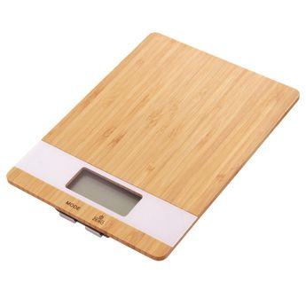 Achat en ligne Balance de cuisine bambou - Zodio