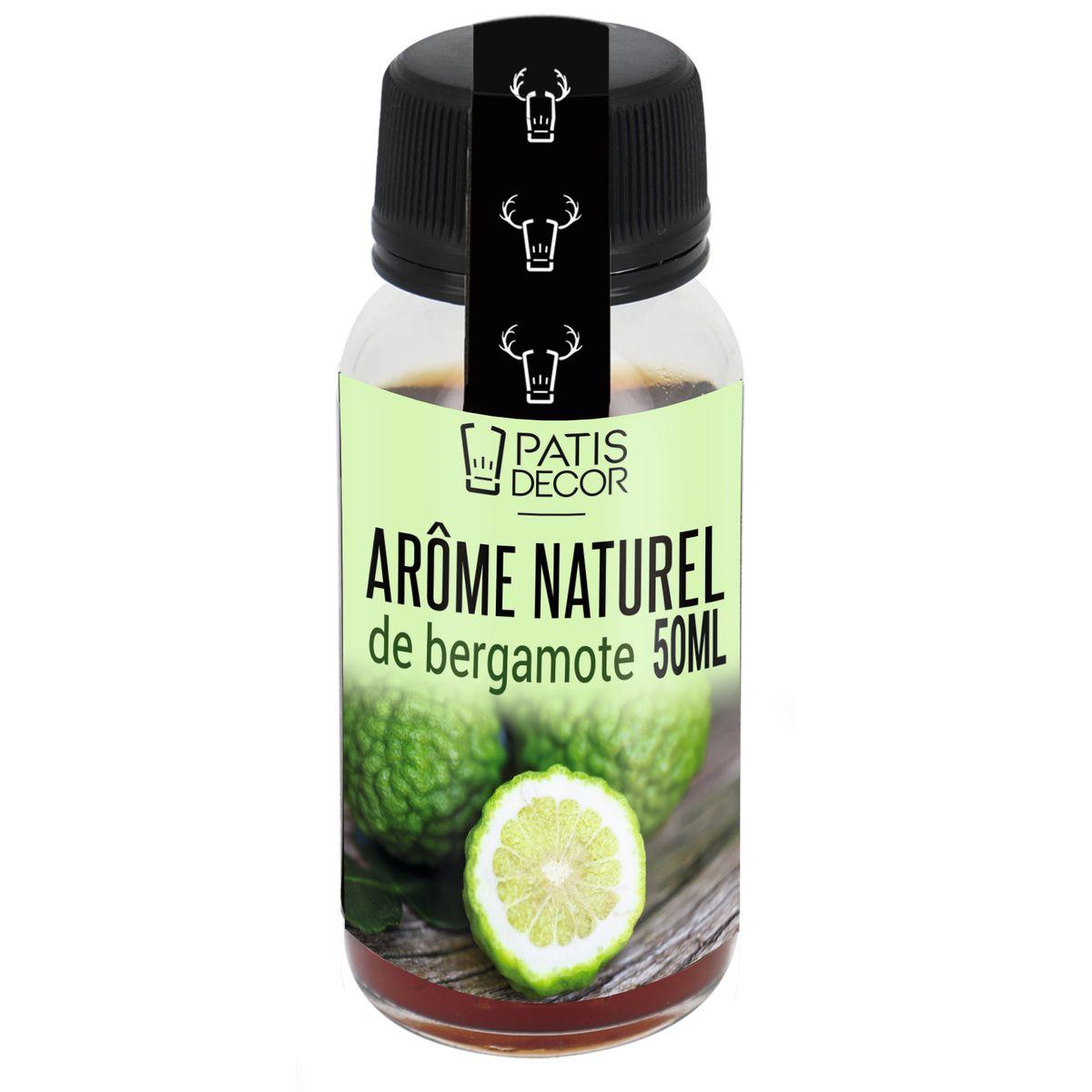 Arôme alimentaire naturel bergamote 50ml - Patisdecor