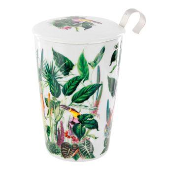 Achat en ligne Tisanière porcelaine Rainforest 350 ml- Teaeve