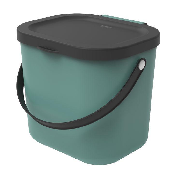 Poubelle à compost Albula verte 6 l - Rotho