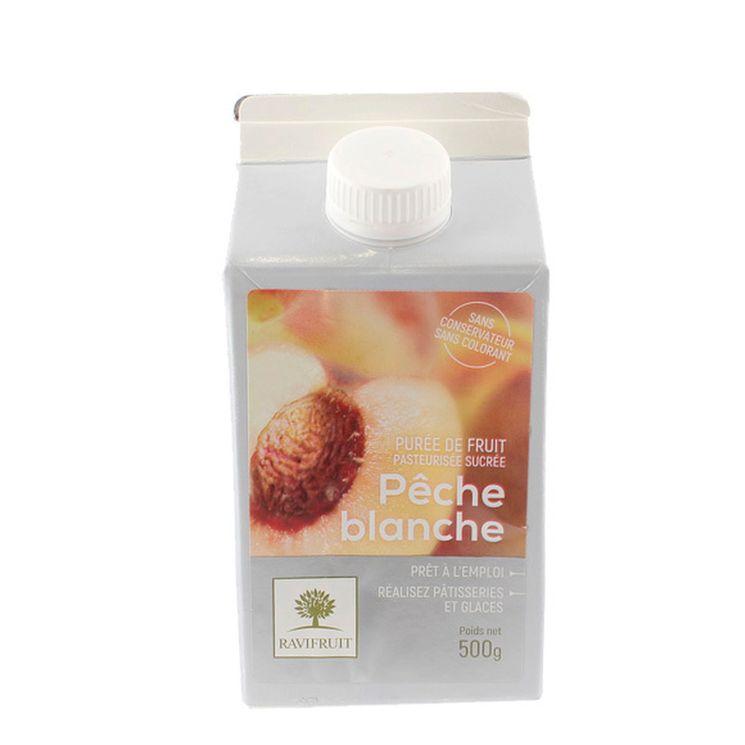 Purée de pêche blanche 500 ml - Ravifruit