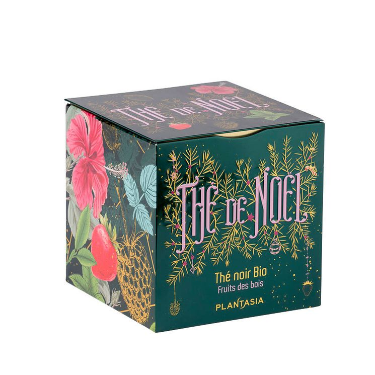 Cube métal Thé de Noêl noir fruits des bois Bio 48g - Provence d´Antan
