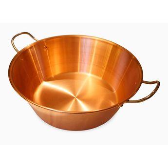 Achat en ligne Bassine à confiture en cuivre 9L diamètre 38cm. non compatible induction - Baumalu